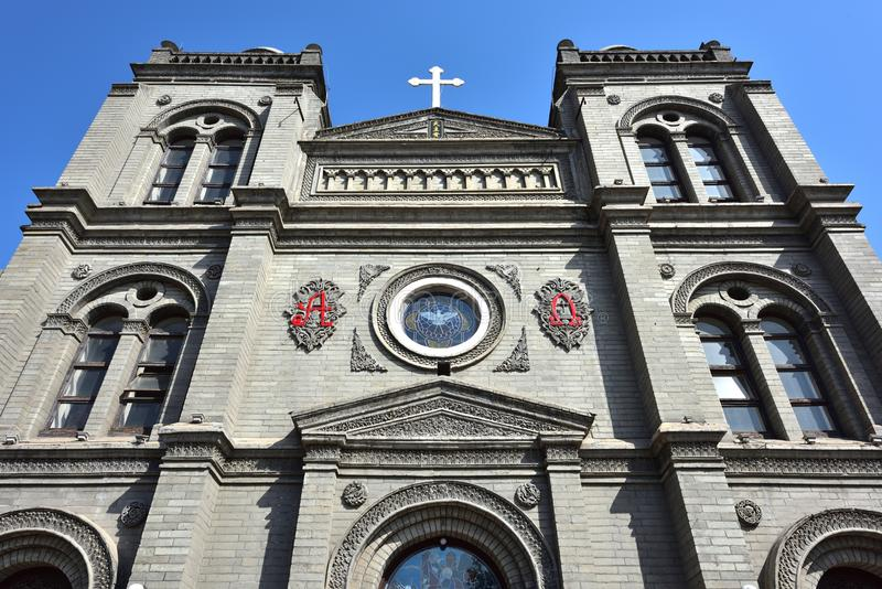 Catholic Church. The Catholic church built by a French Missionary since 1901 in Baoding City, Hebei Province, China stock photography