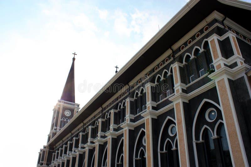 Catholic church, chantaburi, thailand royalty free stock photo
