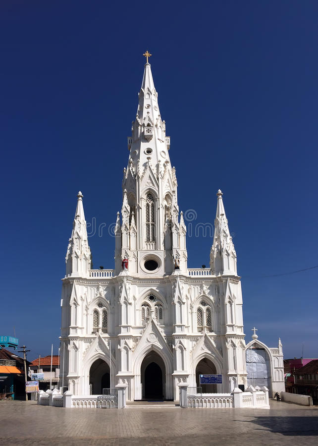 Catholic Church (Church of Our Lady Ransom) in Kanyakumari,Tamil Nadu, royalty free stock image