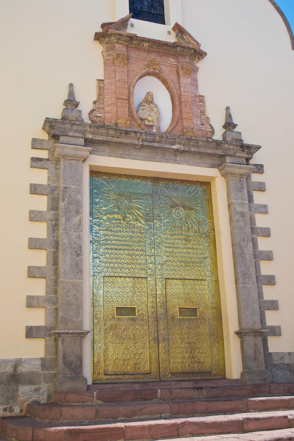 Download Catholic Church gate stock photo. Image of lion, yellow - 26005116