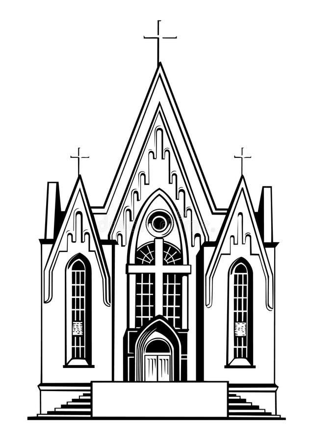 Catholic church royalty free illustration