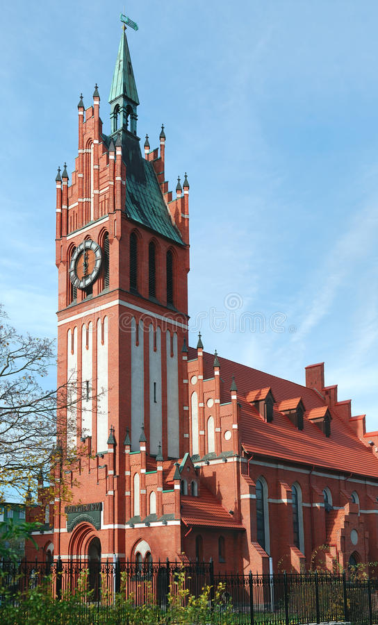 Catholic church in Kaliningrad royalty free stock images
