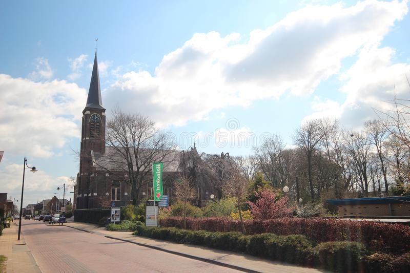 Catholic church named Engelbewaarderskerk in the town of Hazerswoude in the Netherlands. royalty free stock photography