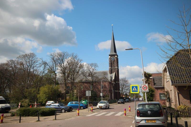 Catholic church named Engelbewaarderskerk in the town of Hazerswoude in the Netherlands. stock photo