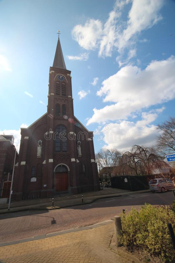 Catholic church named Engelbewaarderskerk in the town of Hazerswoude in the Netherlands. Catholic church named Engelbewaarderskerk in the town of Hazerswoude in royalty free stock image