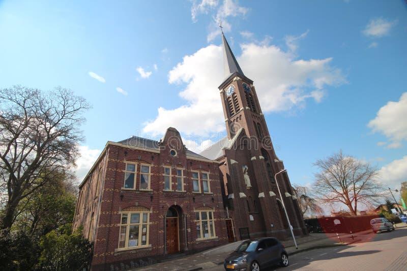 Catholic church named Engelbewaarderskerk in the town of Hazerswoude in the Netherlands. royalty free stock photos