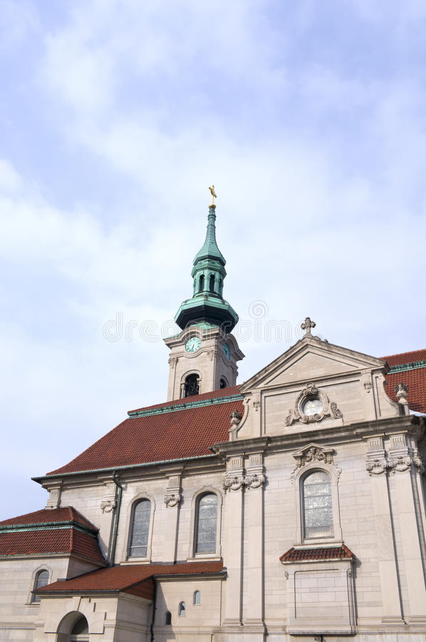 Church Nave and Bell Tower in Saint Paul stock image