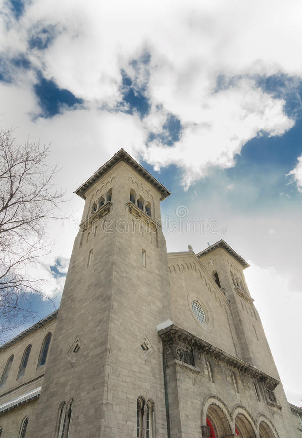 Catholic church perspective royalty free stock images