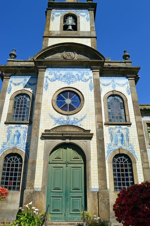Catholic church in Porto, Capela de Fradelos, Portugal. Capela de Nossa Senhora Da Boa Hora de Fradelos in Porto, typical Portuguese church with its facade royalty free stock photos