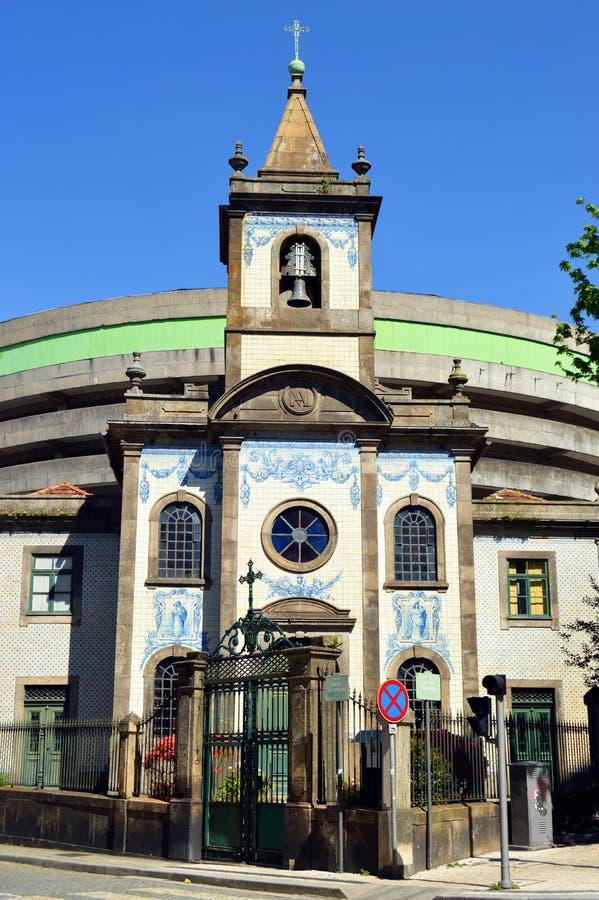 Catholic church in Porto, Capela de Fradelos, Portugal. Capela de Nossa Senhora Da Boa Hora de Fradelos in Porto, typical Portuguese church with its facade royalty free stock images