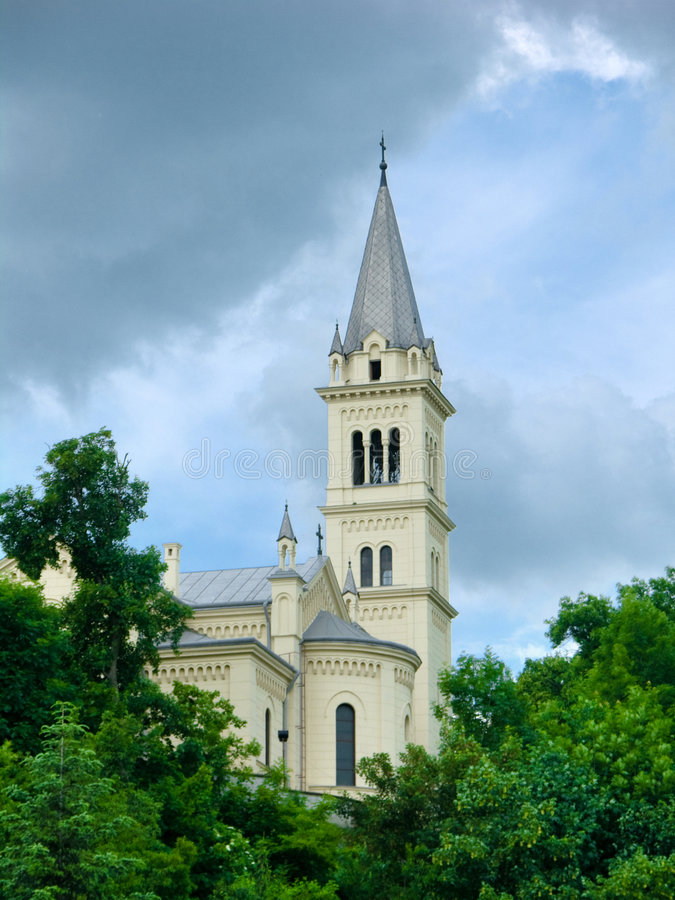 Catholic church in Romania royalty free stock photography