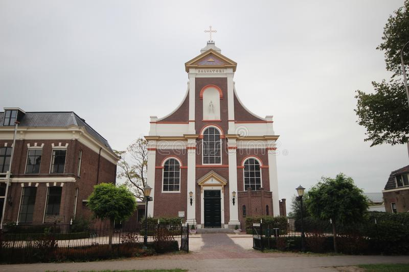 Catholic church Saint Barnabas from 1864 in the village of Haastrecht in the Krimpernerwaard in the Netherlands. royalty free stock images