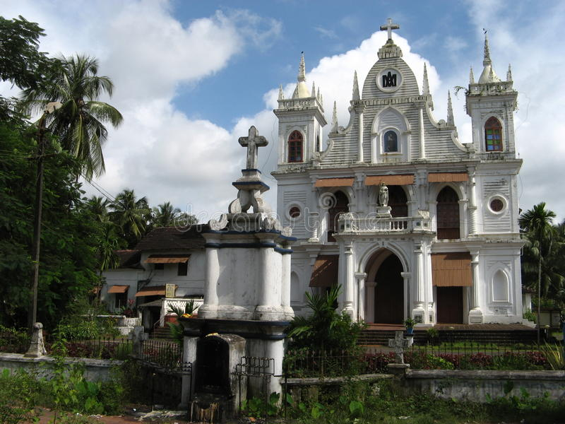 Catholic church in Siolim royalty free stock photography