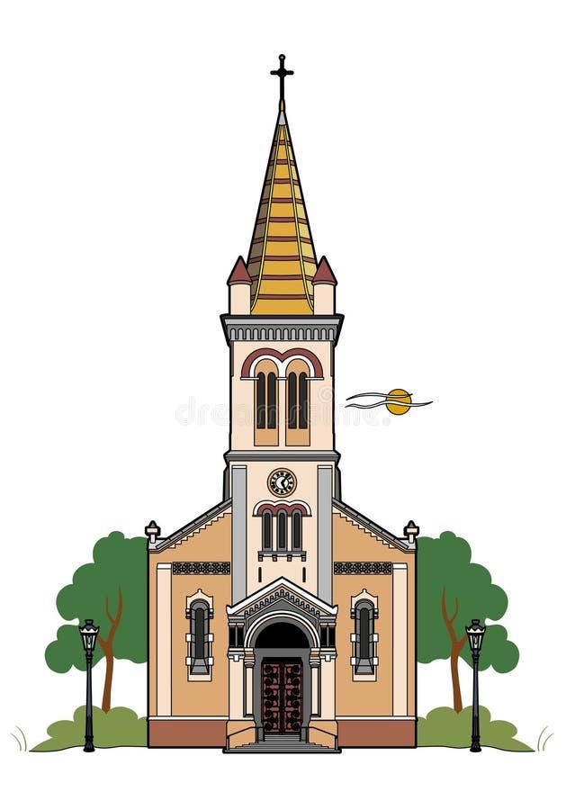 Catholic church vector illustration