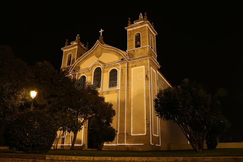 Download Catholic church by night stock image. Image of religion - 28484703