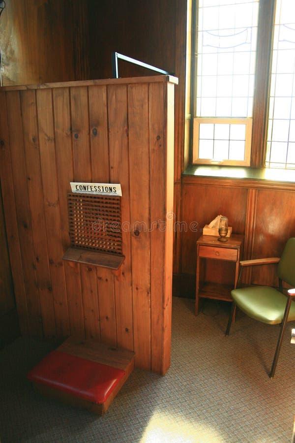 The Catholic Confessional stock photo