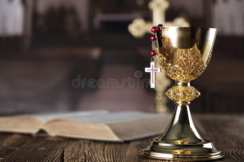 Catholic holidays – Easter. Place for typography and logo. royalty free stock photos