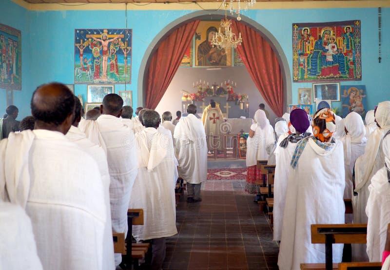 Catholic mass in an Ethiopian Church. Catholic mass in Ethiopian Church royalty free stock image