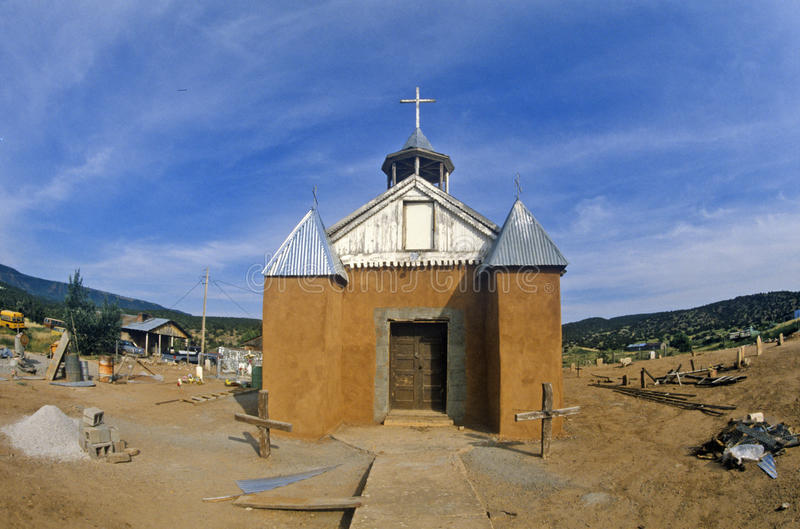 Catholic Mission in New Mexico stock photos