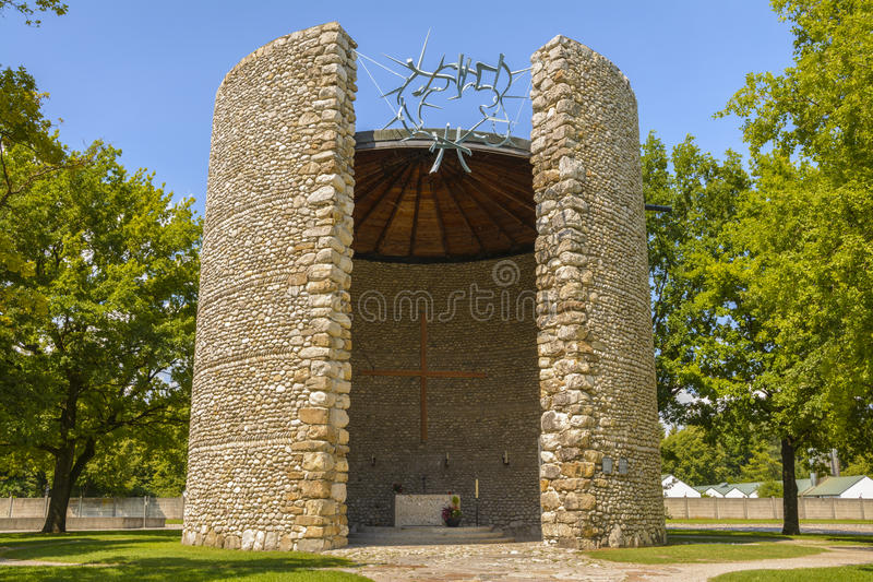Catholic Mortal Agony of Christ Chapel in Dachau concentration c stock images