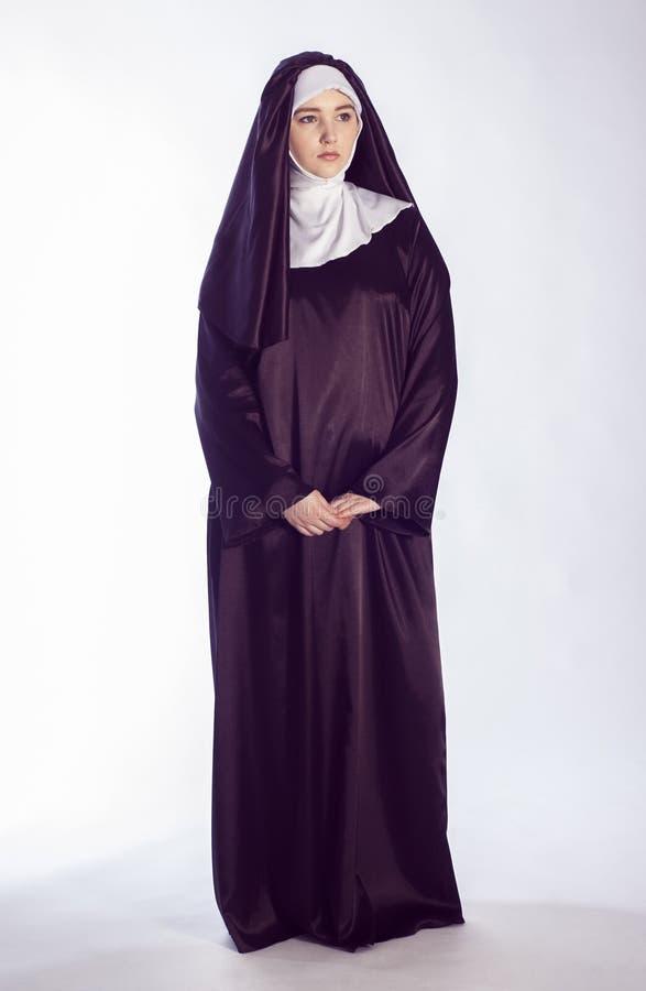 Catholic nun royalty free stock photo