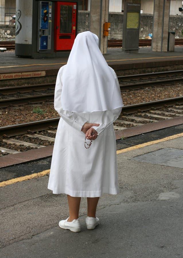 Catholic nun royalty free stock photography