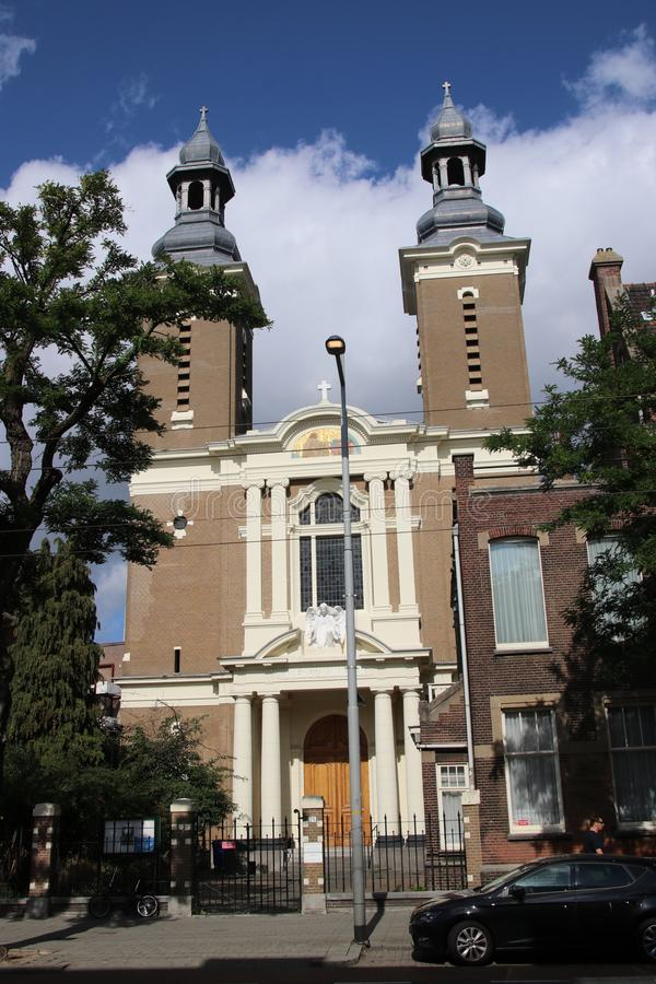 Catholic paradijkskerk church on the Nieuwe Binnenweg in Rotterdam royalty free stock photos