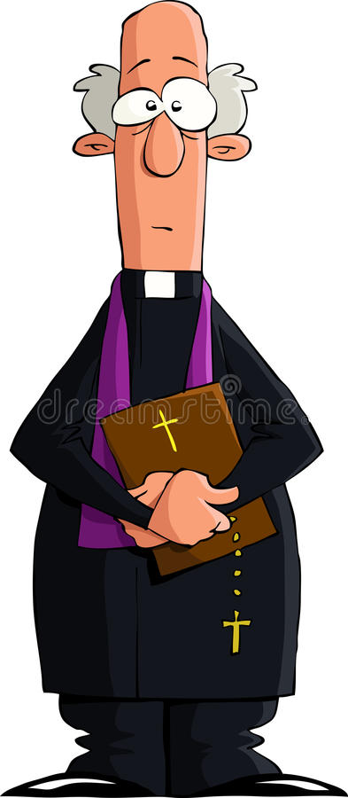 Catholic priest. On a white background, vector royalty free illustration
