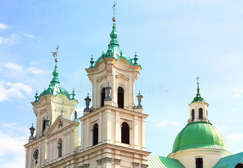 Catholic temple made in Baroque style royalty free stock images