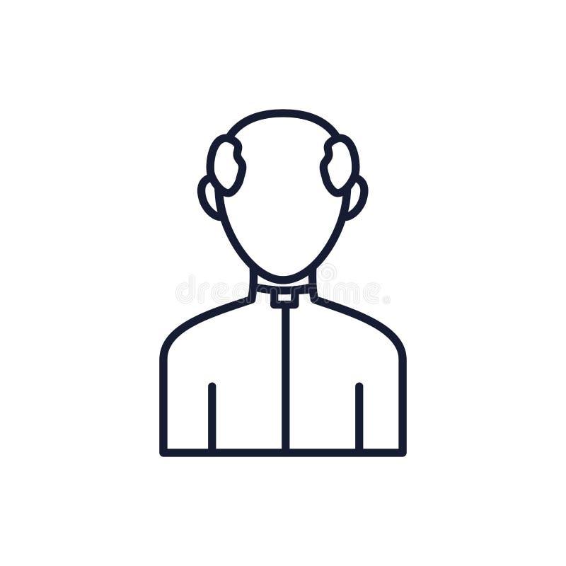 Catholicism man avatar vector design. Catholicism man design, Religion culture belief religious faith god spiritual meditation and traditional theme Vector royalty free illustration
