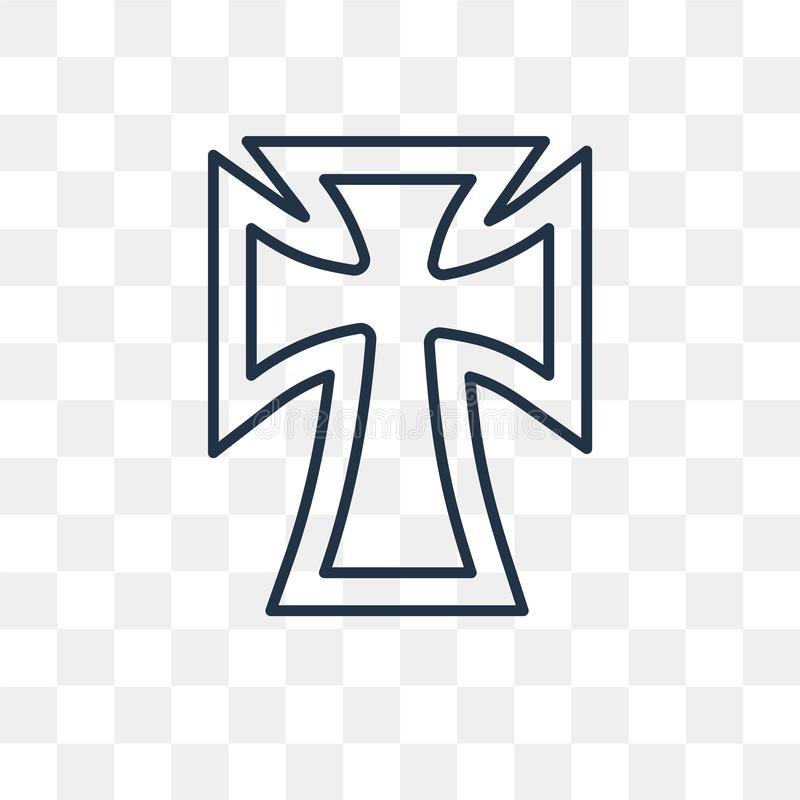 Catholicism vector icon on transparent background, line stock illustration
