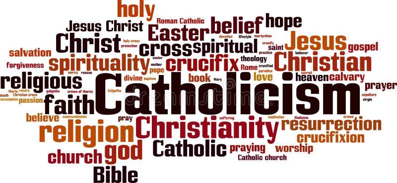 Catholicism word cloud. Concept. Vector illustration stock illustration