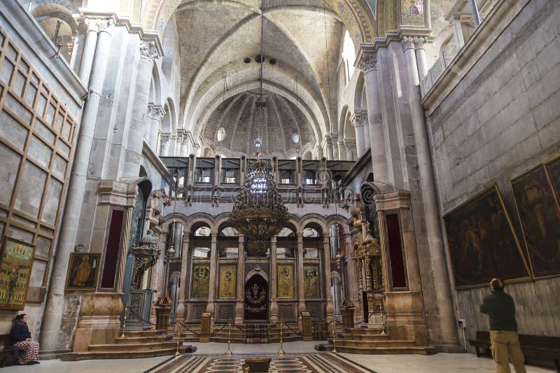 Catholicon behoort tot het Orthodoxe Griekse deel van theChurch van de Verrijzenis stock afbeelding