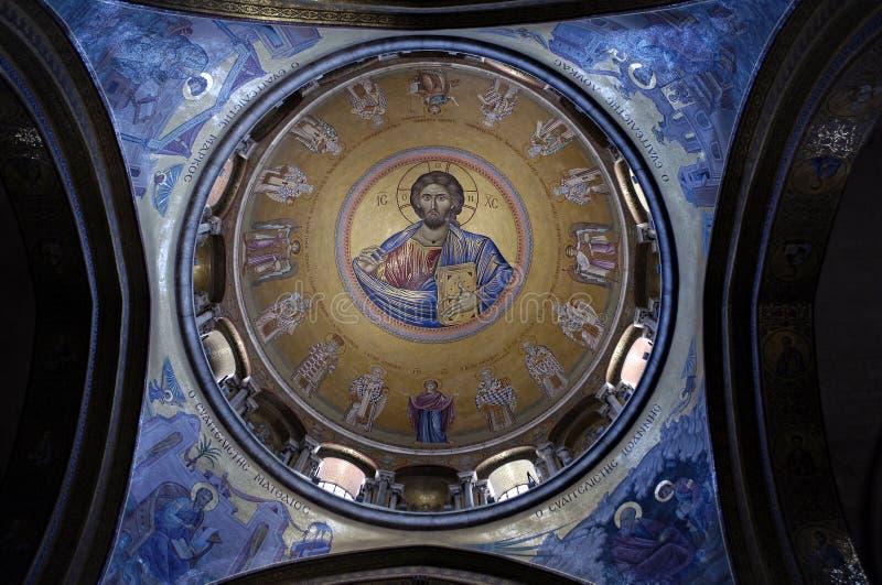 catholikon圆顶耶路撒冷 免版税库存照片