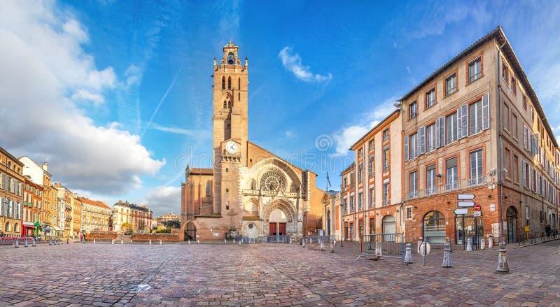 Cathredal в Тулуза, Франции стоковые фотографии rf