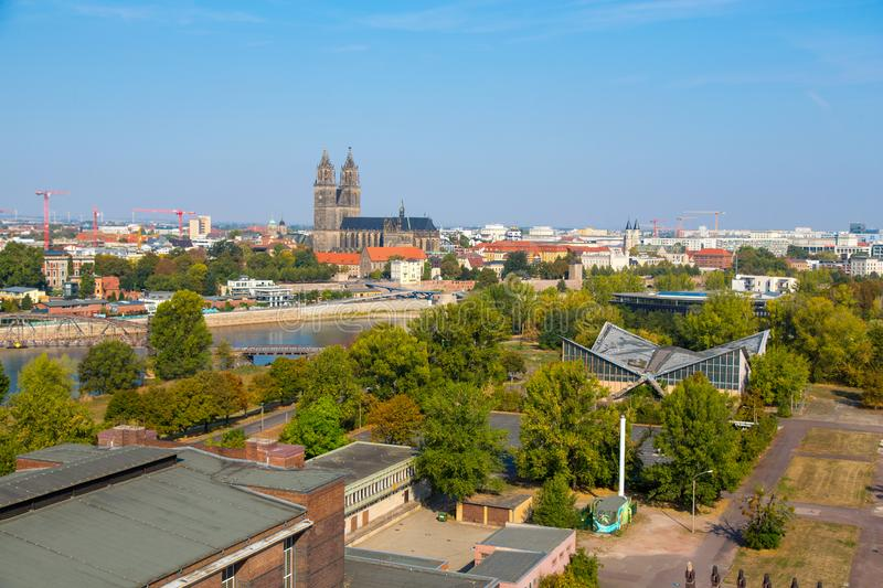Cathedral of Magdeburg stock images