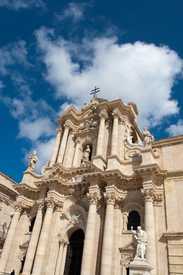 Cathredal principale di Ortigia immagini stock