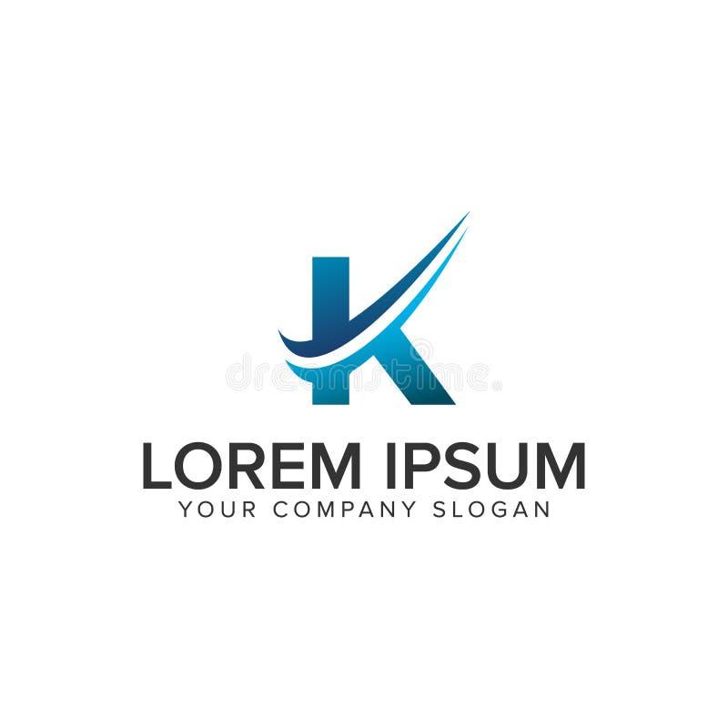 Cative Modern letter K Logo design concept template . fully editable stock illustration