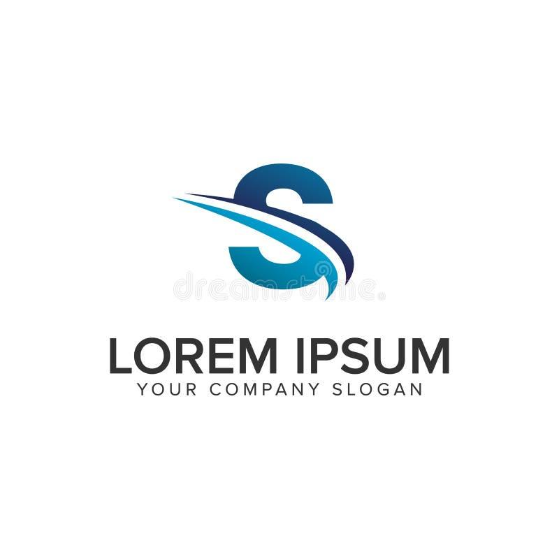 Cative Modern letter S Logo design concept template . fully editable royalty free illustration
