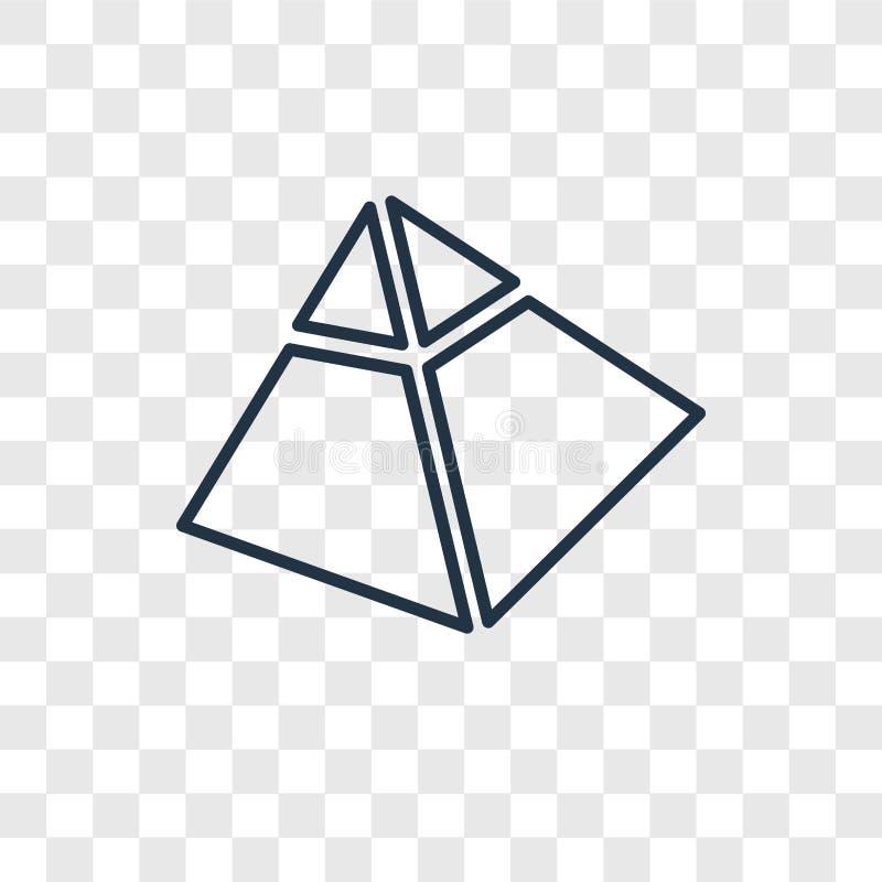 Cativos ao ícone linear do vetor do conceito de Egito isolado no transpa ilustração do vetor