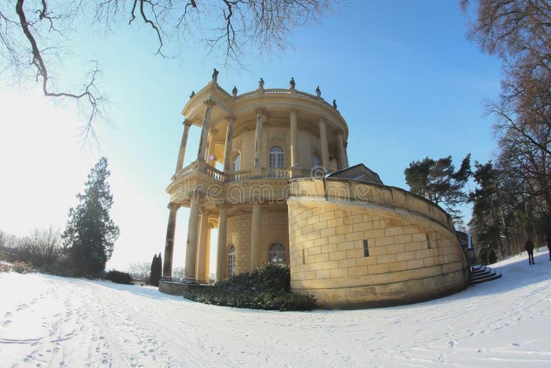 Catle de Potsdam no inverno imagens de stock