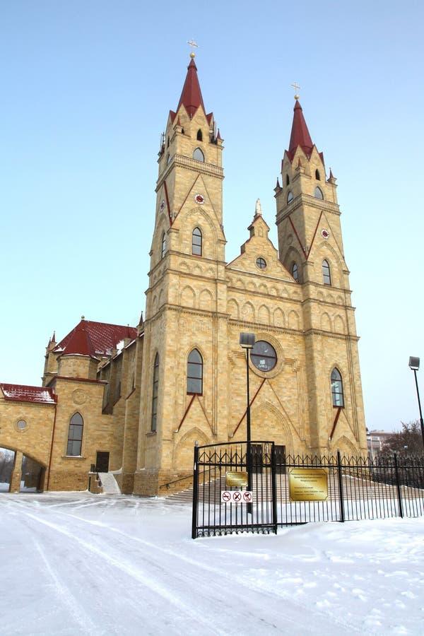 Catolic kościół w Karaganda, Kazachstan obrazy stock