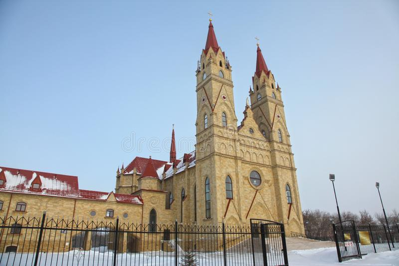 Catolic kościół w Karaganda, Kazachstan obrazy royalty free