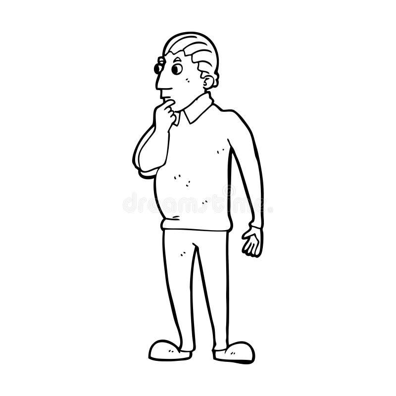 catoon ciekawy mężczyzna ilustracji