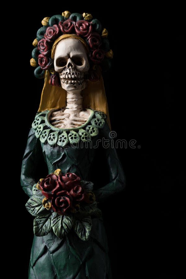 Catrina Calavera. Known as the Elegant Skull Dia de los Muertos (Day of the Dead) celebration stock photo