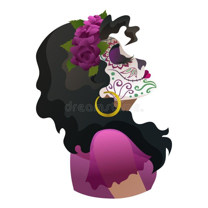 Catrina, dzień Nieżywy symbol Meksyk
