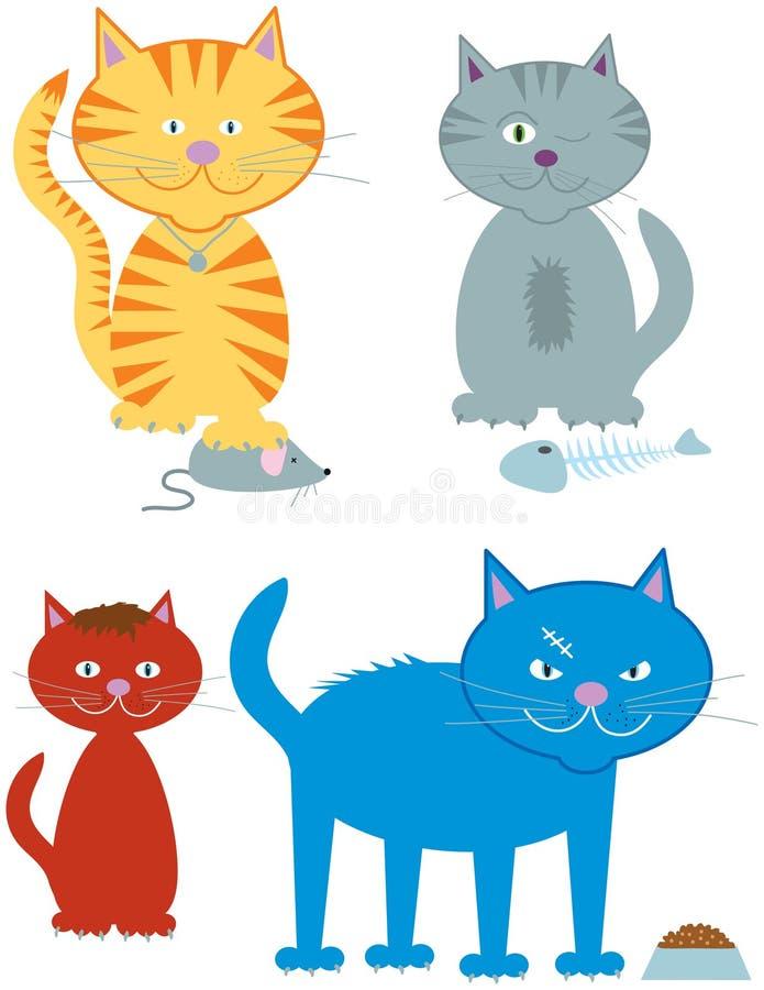 Download Cats stock vector. Illustration of feline, character - 12173351