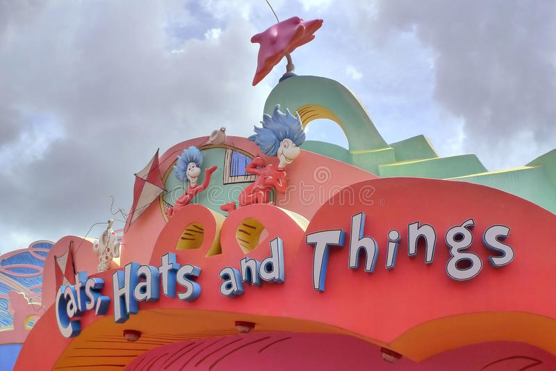 Cats. Dr seuss cats,hats and things at universal studio orlando stock photography