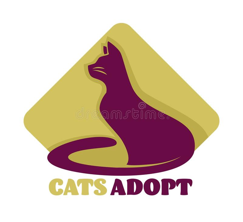 Cats adoption isolated icon animal shelter care and love. Animal shelter cats adoption isolated icon care and love vector mammal taking home charity and stock illustration