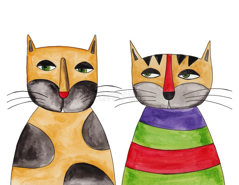 Download Cats stock illustration. Image of character, design, acrylic - 31732490